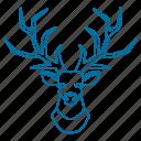 animal, christmas, deer, male, winter