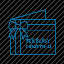 christmas, gift, paper, postcard icon