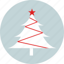 christmas, christmas tree, new year, party, pine tree, star, x-mas icon