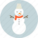 christmas, circle, holiday, new year, snowman, winter, x-mas icon