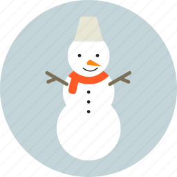 christmas, circle, holiday, new year, snowman, winter, x-mas icon