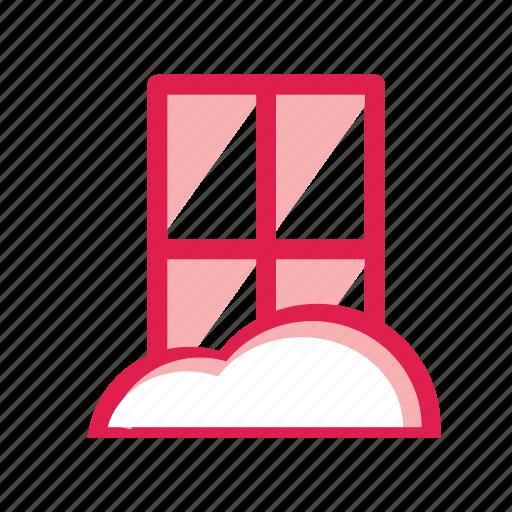 cloud, cold, door, home, snow, window, winter icon