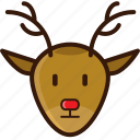 christmas icon, decoration, deer, deer head, ornament, santa deer icon