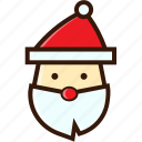 christmas character, christmas icon, claus, santa, santa hat icon