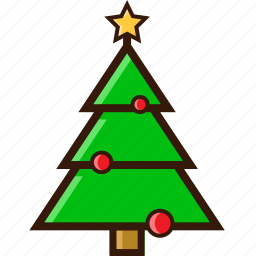 christmas decoration, christmas tree, decoration, ornament, tree, winter icon