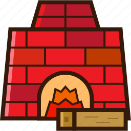 christmas icon, fireplace, fireplace with wood, warm place, xmas icon icon