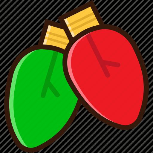 bulb, christmas bulb, christmas icon, decoration, lamp, light icon
