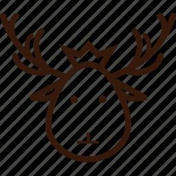 christmas icon, decoration, deer, deer head, ornament, santa deer icon