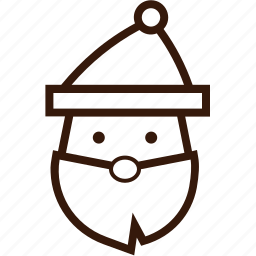 christmas character, christmas icon, claus, santa, santa hat icon