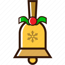 bell, celebration, christmas icon, decoration, ornamnet christmas icon