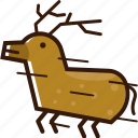 christmas icon, deer, flying deer, santa deer icon