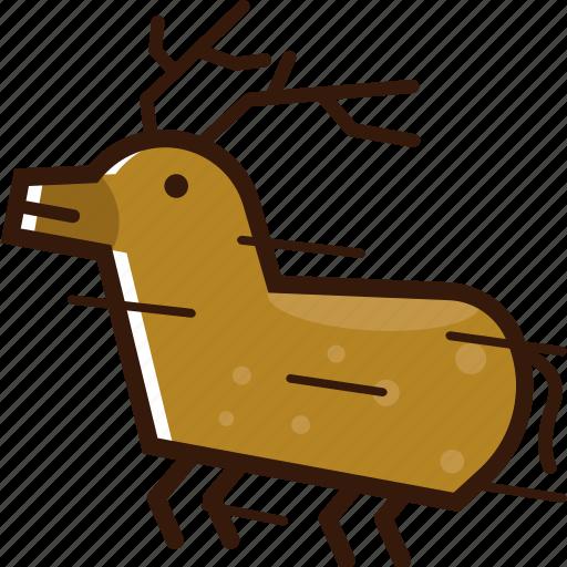 christmas icon, deer, flying deer, santa deer icon
