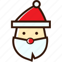 christmas icon, claus, santa, santa hat icon