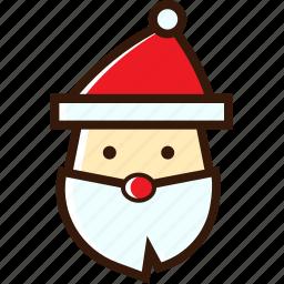 christmas icon, claus, santa, santa hat icon
