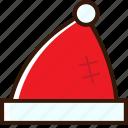 accessory, christmas icon, hat, santa, santa hat, xmas icon icon