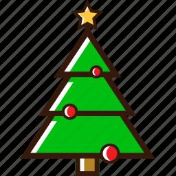 christmas decoration, christmas tree, ornament, tree, winter, xmas tree icon