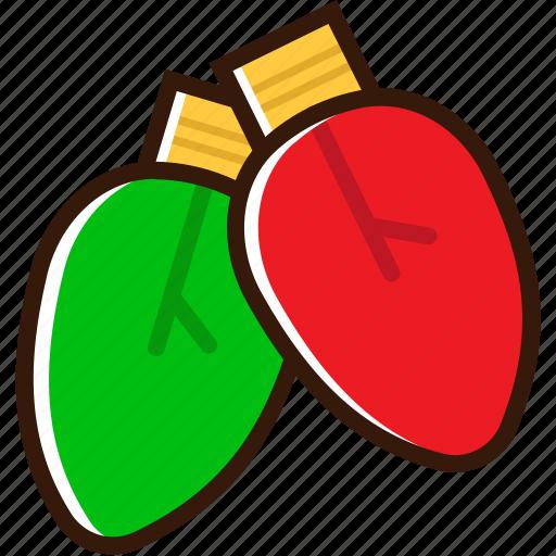 bulb, christmas bulb, christmas icon, decoration, lamp, light, xmas icon icon
