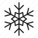 cold, flake, frost, ice, snow, snowflake icon