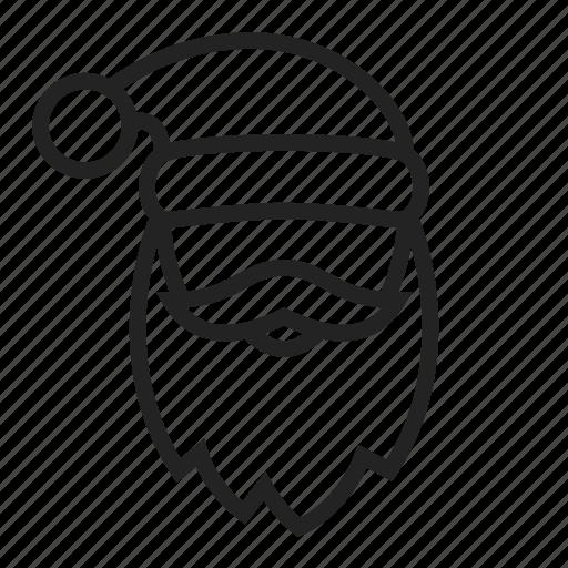 claus, face, head, man, mask, santa icon
