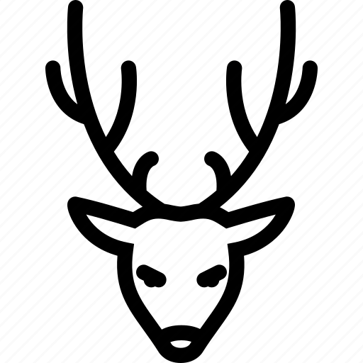 christmas, deer, holidays, new year, winter icon