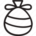 bag, gift, present, reindeer, santa, sleigh, xmas icon