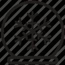 christmas, snowball, snowflake, snowglobe, winter, xmas