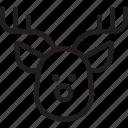 christmas, reindeer, rudolf, santa claus, sleigh, xmas icon