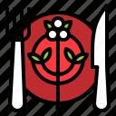 dish, fork, restaurant, spoon, xmas icon