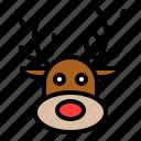 animal, avatar, face, reindeer, xmas icon