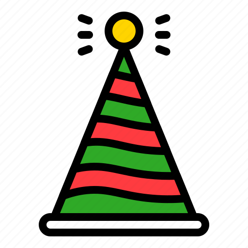 celebration, hat, party, party hat, xmas icon