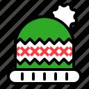fashion, hat, winter, wool hat, xmas icon