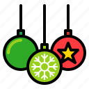 ball, bauble, chirstmas ball, decoration, xmas icon
