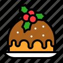 cake, dessert, pudding, sweets, xmas icon