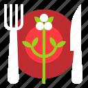 christmas, dish, fork, restaurant, spoon icon