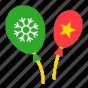 balloon, christmas, party, toy icon