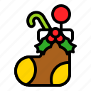 decoration, present, sock, xmas icon