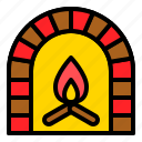 chimney, fireplace, household, warm, xmas icon