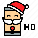 laugh, phone, santa, smartphone, xmas icon