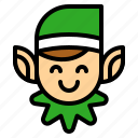avatar, elf, fantasy, xmas icon