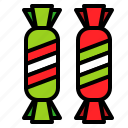 candy, sweet, sweets, toffee, xmas icon