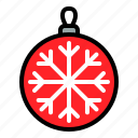 bauble, christmas ball, decoration, xmas icon
