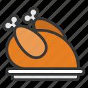 chicken, christmas, food, turkey, xmas icon