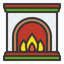 chimney, christmas, fireplace, warm, xmas icon