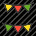 christmas, flag, flags, garland, xmas icon