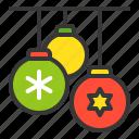 balls, bauble, christmas, christmas ball, xmas icon