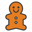 bakery, christmas, cookie, gingerbread, xmas icon