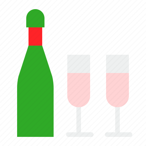 beverage, bottle, champagne, christmas, drinks, wine icon
