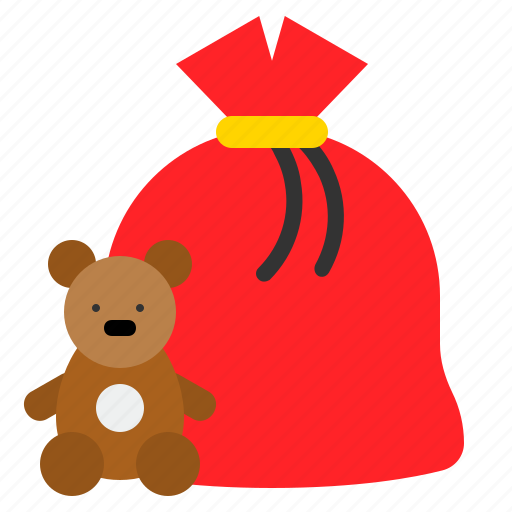 Christmas, doll, gift, gift bag, present bag icon - Download on Iconfinder