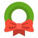 christmas, ornament, wreath, xmas