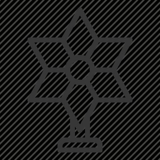 christmas, decoration, star, tree topper, xmas icon